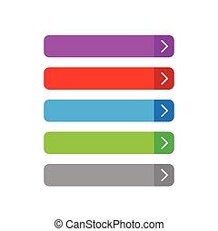 Empty button set flat design