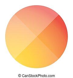 Empty button vector flat