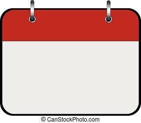 Empty calendar icon