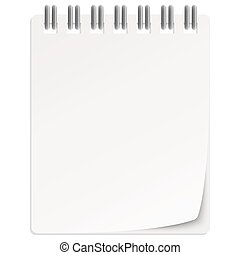 empty calendar - empty white calendar with turned over page