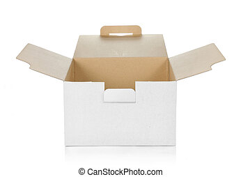 box - empty cardboard box with copy space