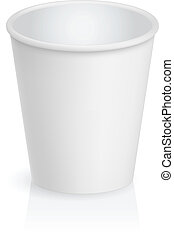 Empty cardboard cup. Illustration on white background