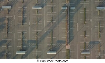 Empty Carpark Aerial - Aerial footage of empty parking lot