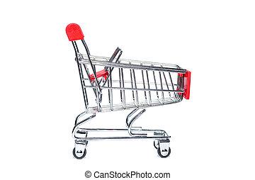 empty., carrito, supermercado