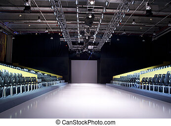 Empty Catwalk - Catwalk before a fashion show