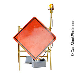 Caution road street sign - Empty Caution road street sign ...