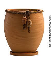 empty ceramic flower pot