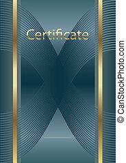 empty certificate blue/gold