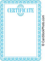 empty certificate