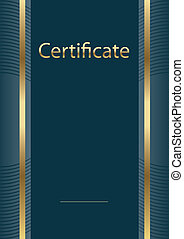 empty certificate model  - background, diploma