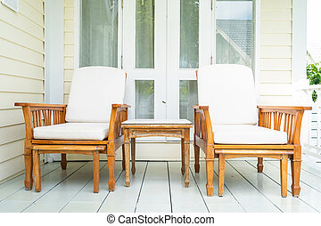 Empty chair and furniture decoration