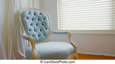 Empty chair at home 4k - Empty chair at home. Blue accent ...