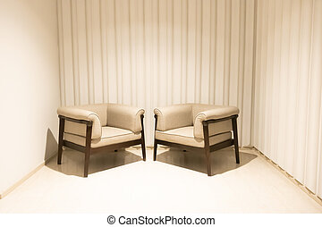 empty chair decoration in a room