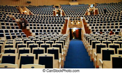 empty chairs at concert hall