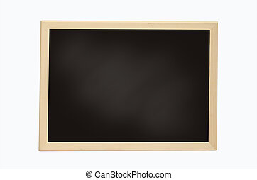 Empty Chalk Board isolated on white background