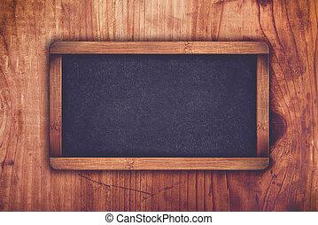 Empty chalkboard as copy space