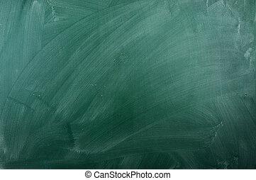 close up of an empty school green chalkboard