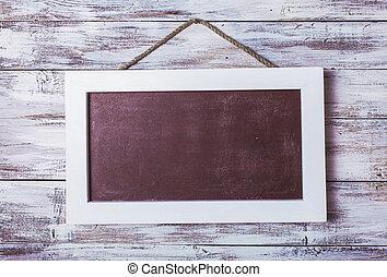 Empty chalkboard