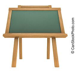 Empty chalkboard on white background