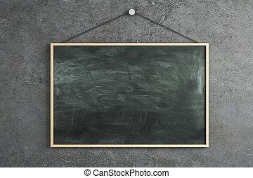Empty chalkboard poster