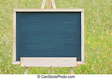 empty chalkboard with easel