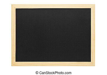Empty chalkboard with wooden frame. Copy space.
