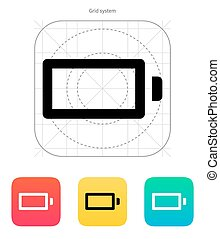 Empty charge battery icon. Vector illustration.