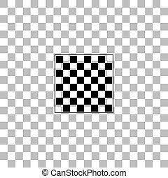 Empty chess board icon flat