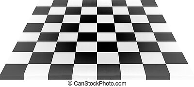 Empty chess board in black and white design on white...
