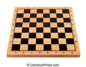 empty chess board on a white background