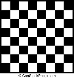 Empty chessboard isolated. Board for chess or checkers game....