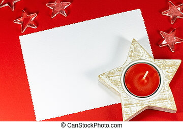 Empty christmas card