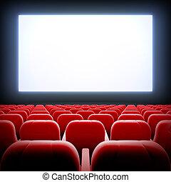 Empty cinema hall.