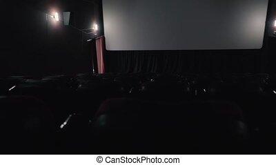 Empty cinema hall before the movie