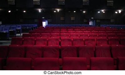 Empty cinema hall clip dark