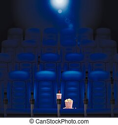 Empty Cinema Hall Illustration