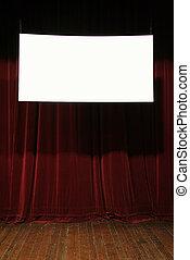 empty cinema sign