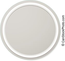 Empty circle button, badge background isolated on white.