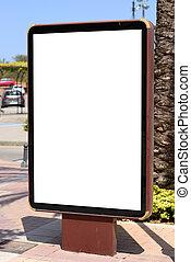 Empty city billboard