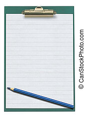 empty clipboard with pencil