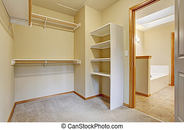 Empty Closet With Shelves