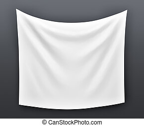 Empty cloth banner with folds - Empty cloth banner. 3d...