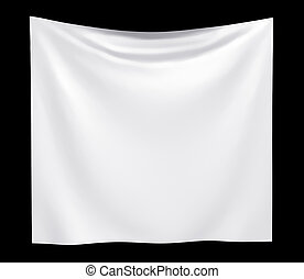Empty cloth banner with folds