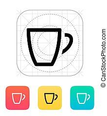 Empty coffe cup icon.