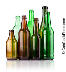 bottles - empty color bottles