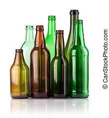 empty color bottles