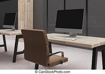 Empty computer in interior