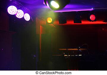 Empty concert stage