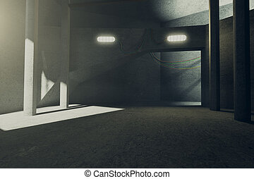 Empty concrete interior