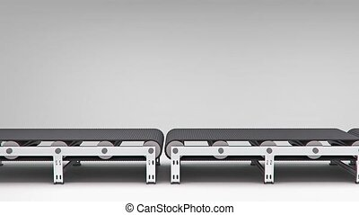 empty conveyor animation for use in presentations, manuals,...